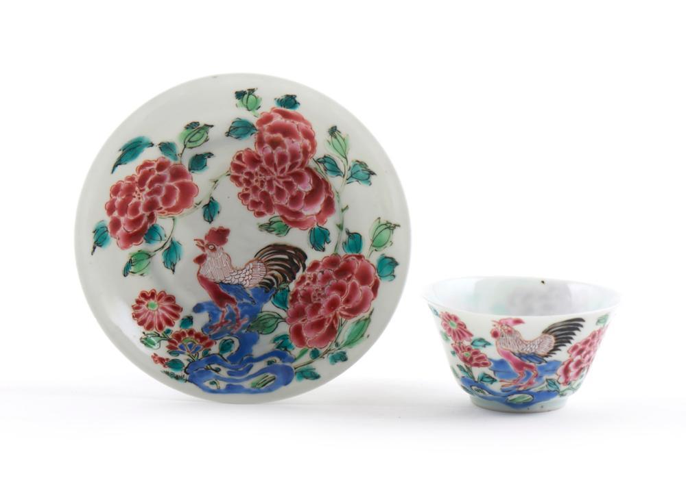 Taça c/ pires em porcelana chinesa (2)