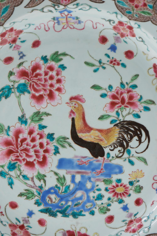 Medalhão, grande prato em porcelana chinesa CI