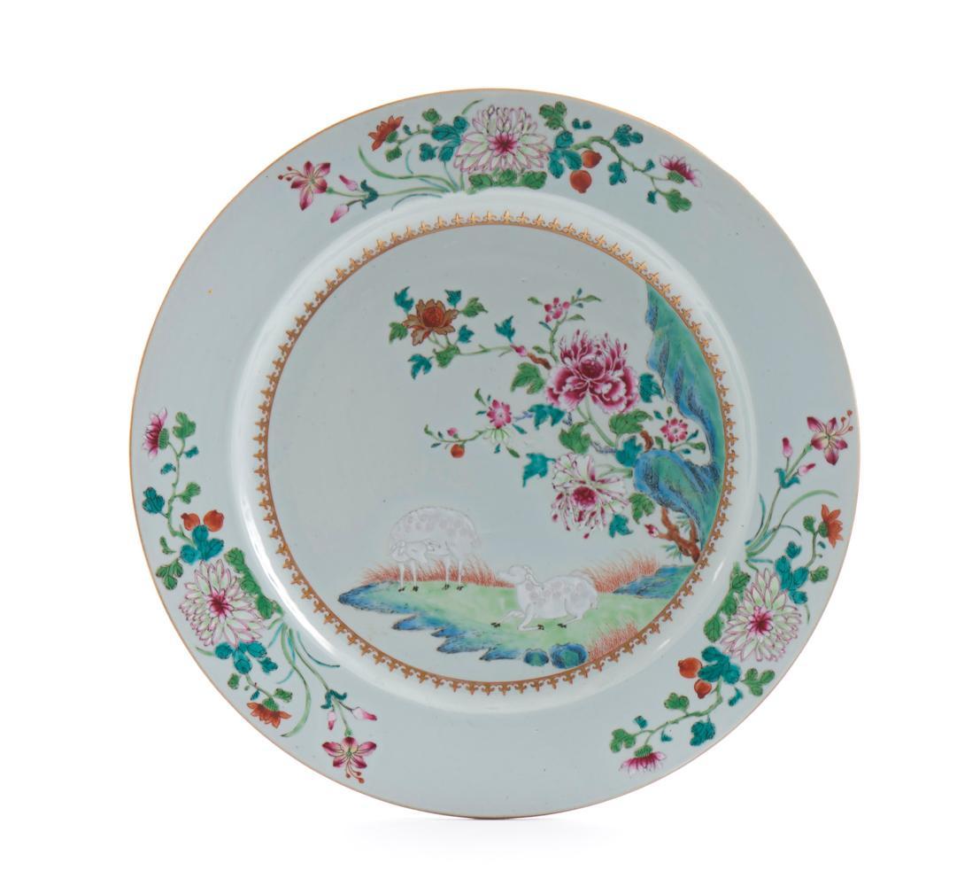 Grande prato em porcelana chinesa CI