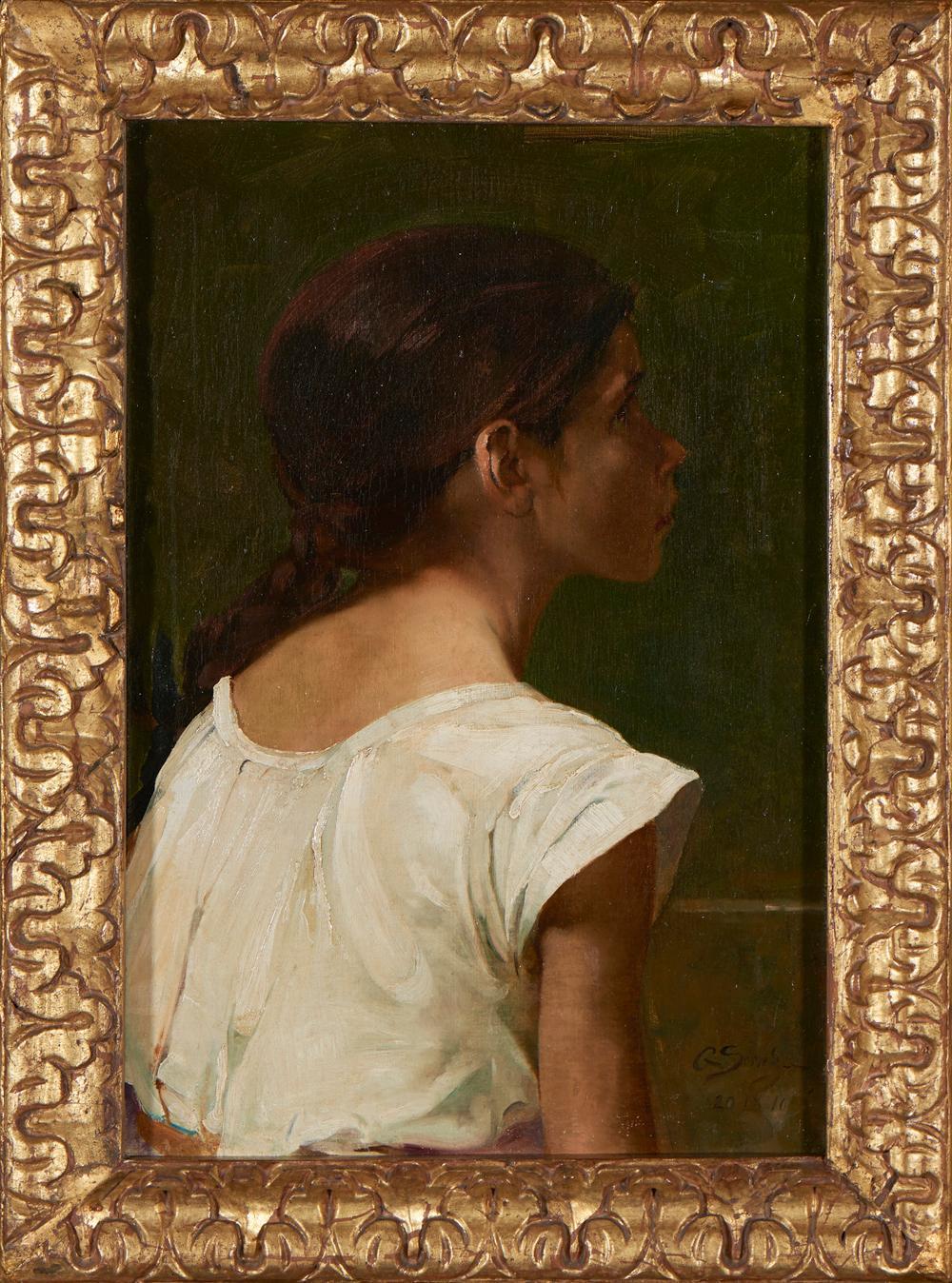 AURÉLIA DE SOUSA, Óleo sobre tela, 55 x 37,5 cm.