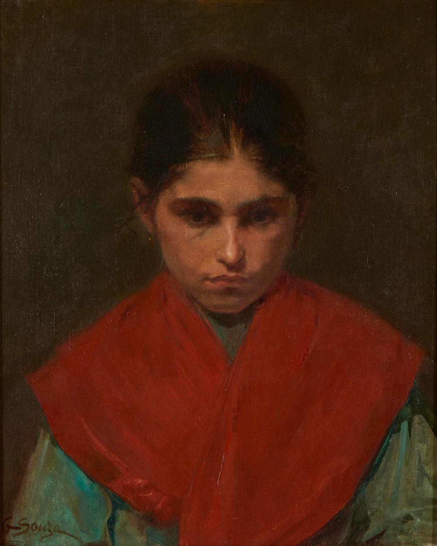 AURÉLIA DE SOUSA, Óleo s/tela,54,5 x 45,5 cm.