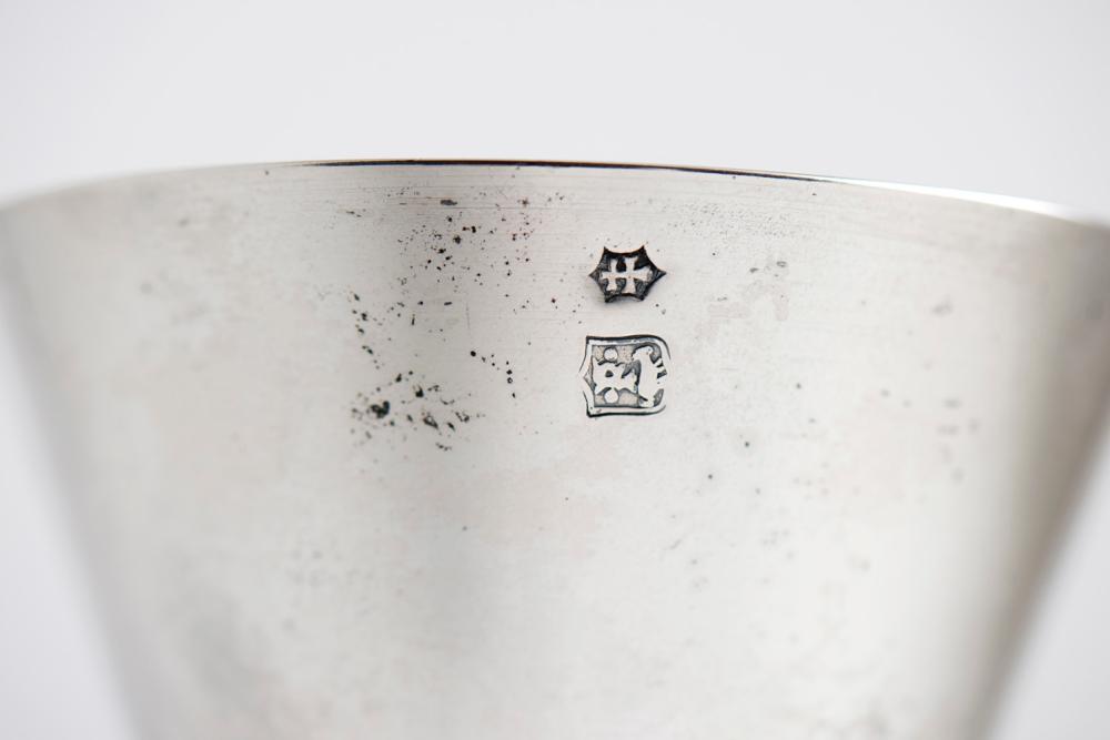 Cálice cobre dourado e prata, séc.XV, F. Becerril