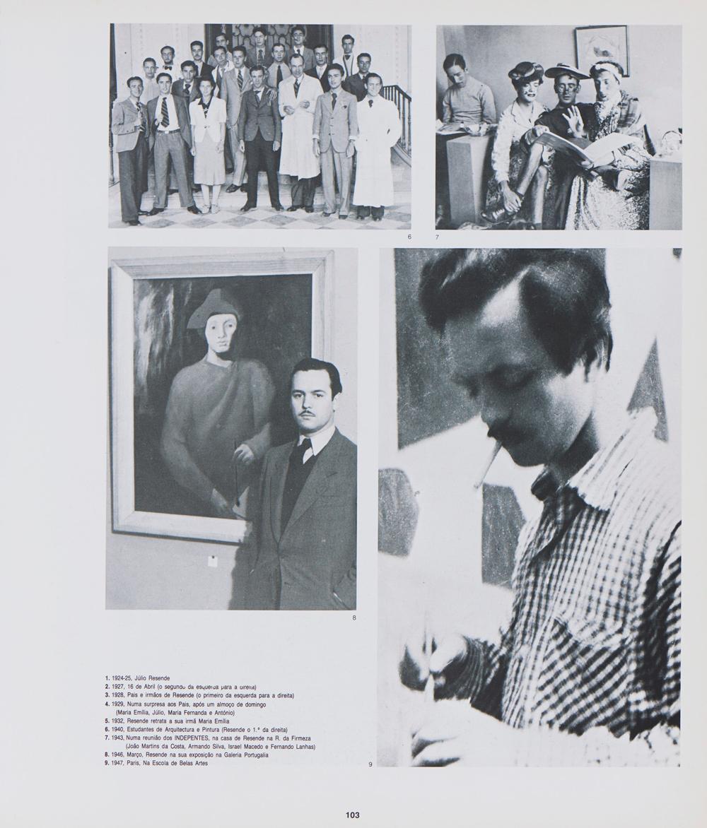 JÚLIO RESENDE, Óleo s/tela, 96 x 78 cm.