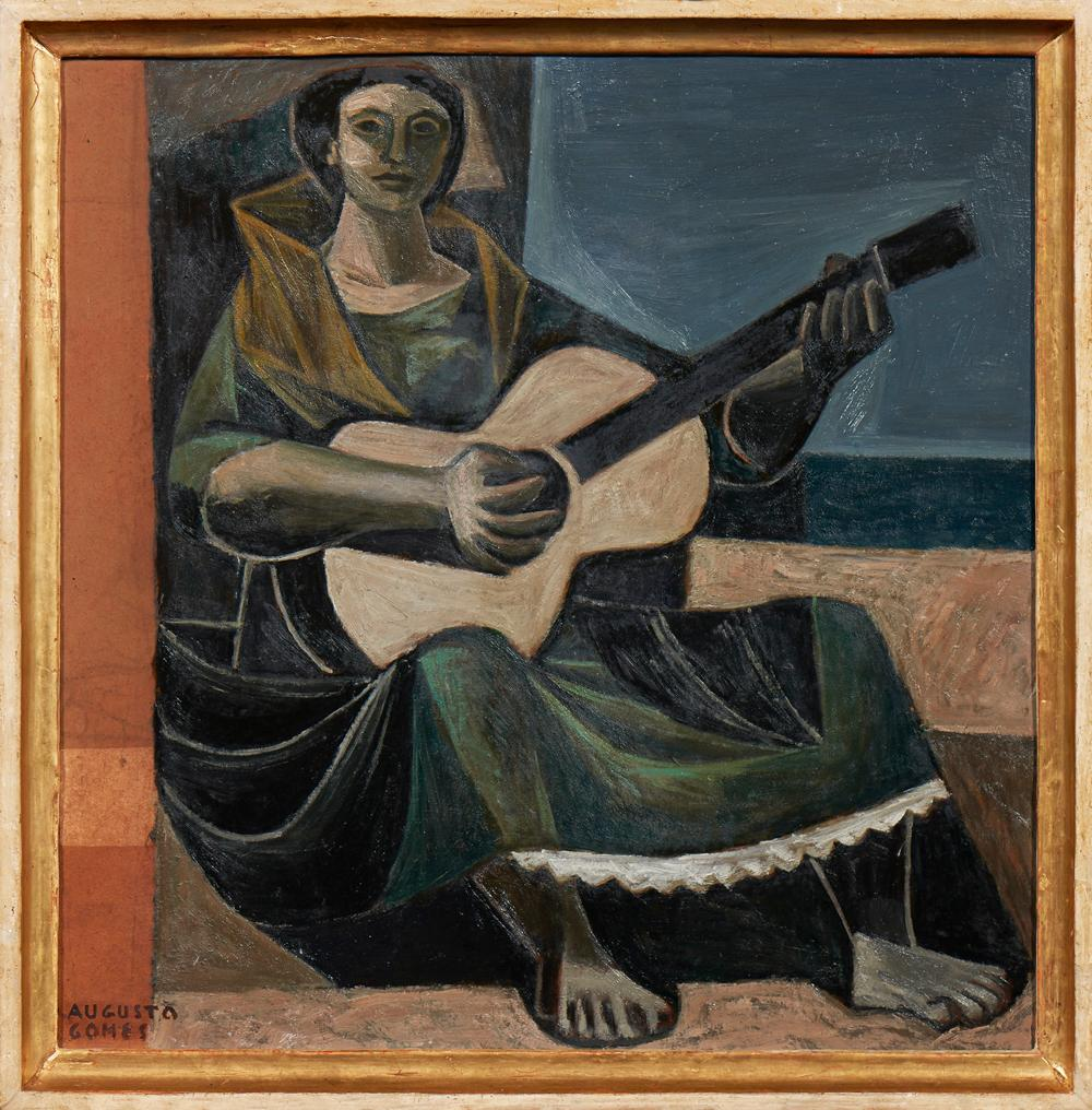 AUGUSTO GOMES, Óleo sobre platex, 52 x 51 cm.