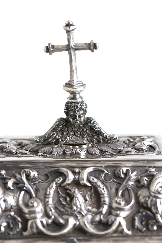 Cofre eucarístico em prata, séc.XVII/XVIII P.1944g