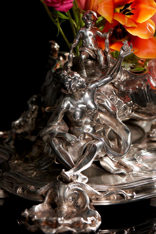 Centro de mesa em prata 833%, Leitão&Ir, P.18820g