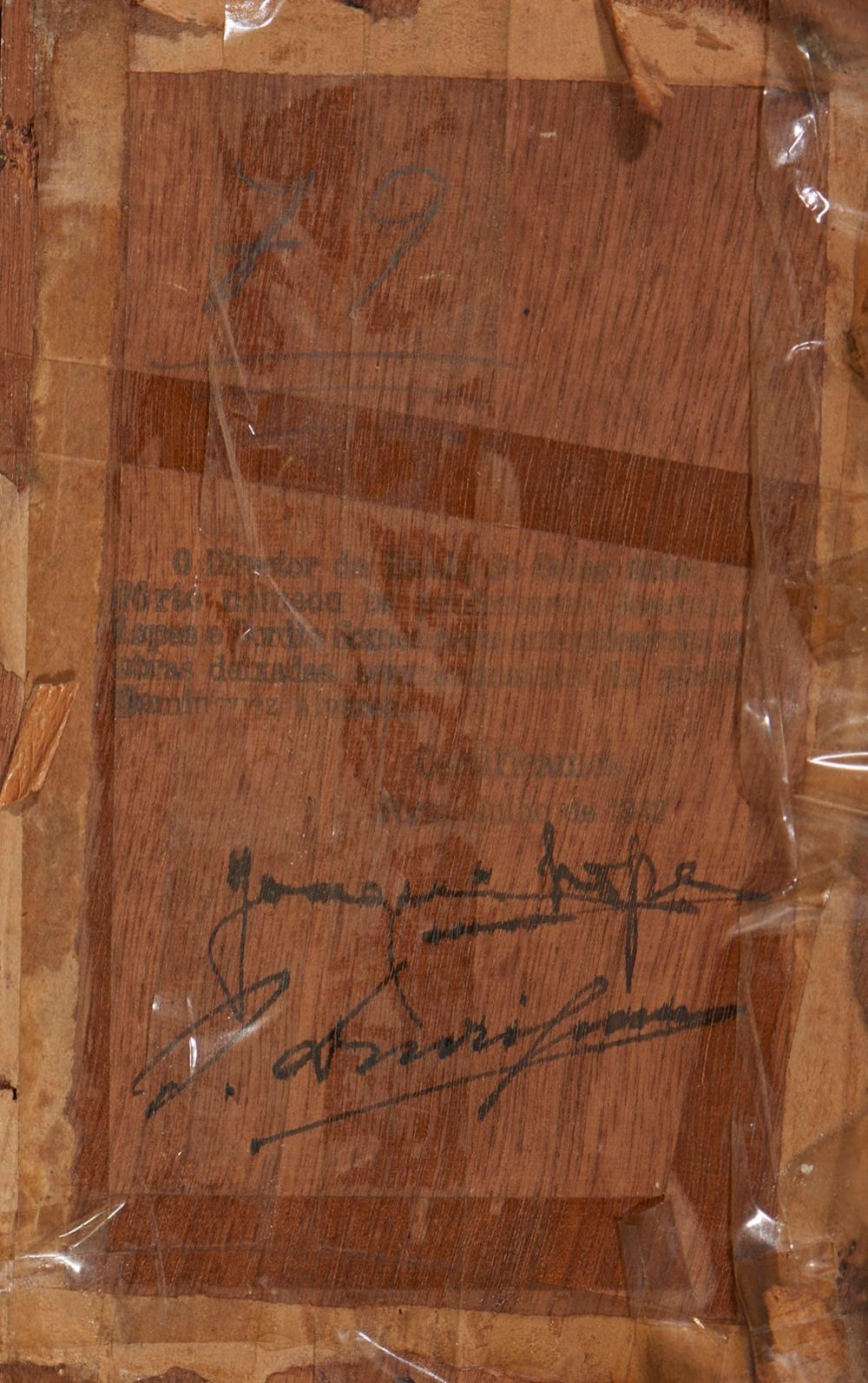 ALVAREZ, José, Óleo sobre madeira, 11,7 x 18,5 cm.