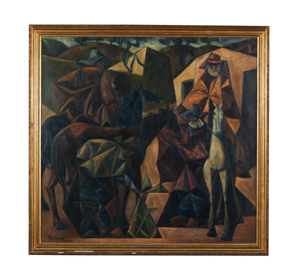 JÚLIO RESENDE, Óleo sobre tela, 164 x 170 cm.