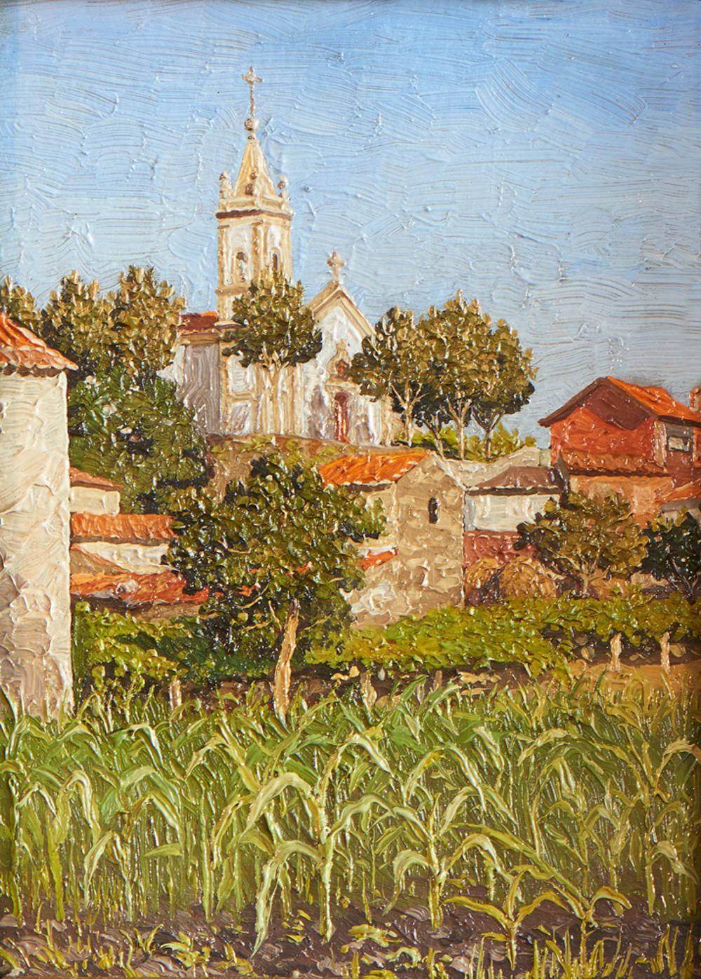 ALVAREZ, José, Óleo sobre cartão, 16,5 x 12,5 cm.