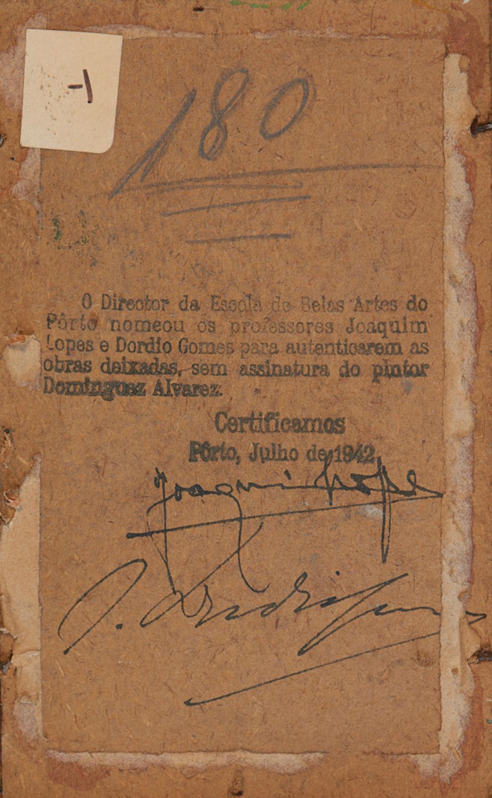 ALVAREZ, José, Óleo sobre cartão, 10,2 x 17 cm.