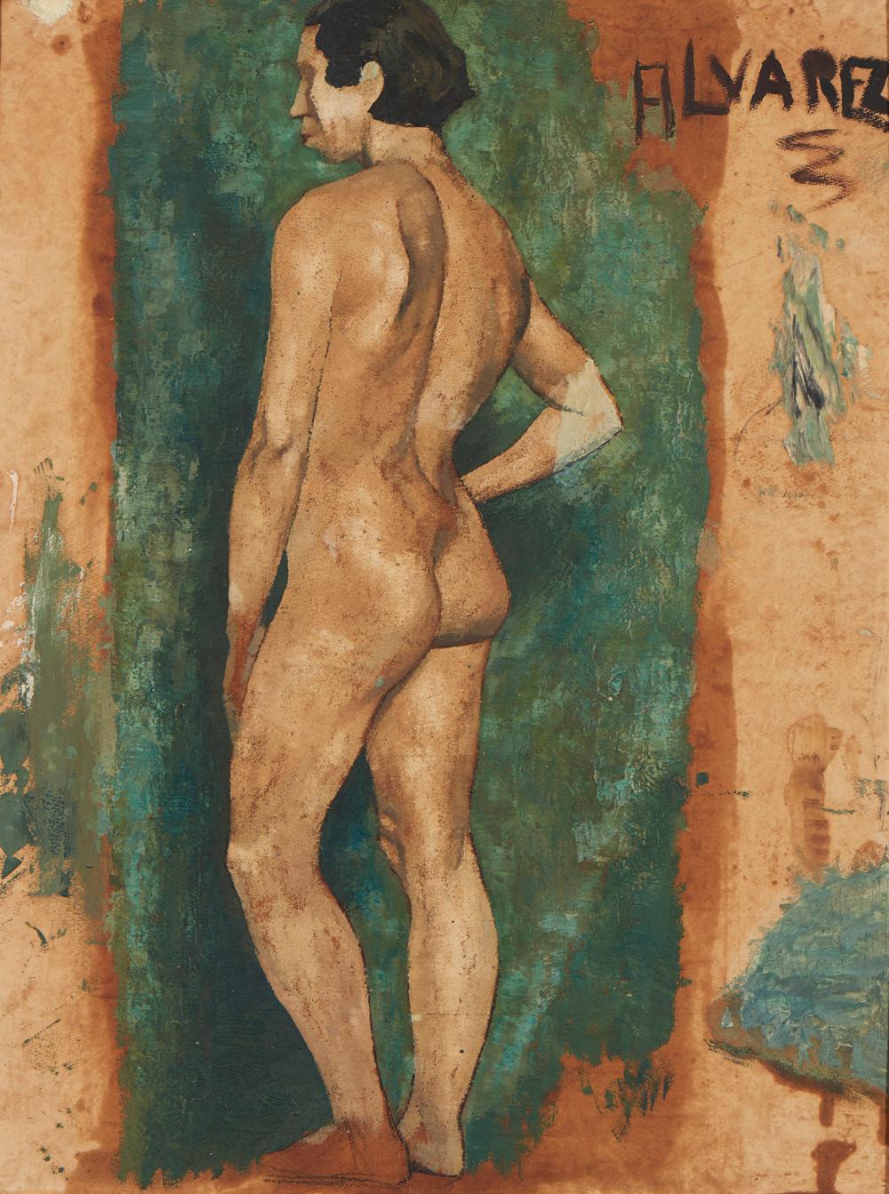 ALVAREZ, José, mista s/papel, 62 x 47cm.