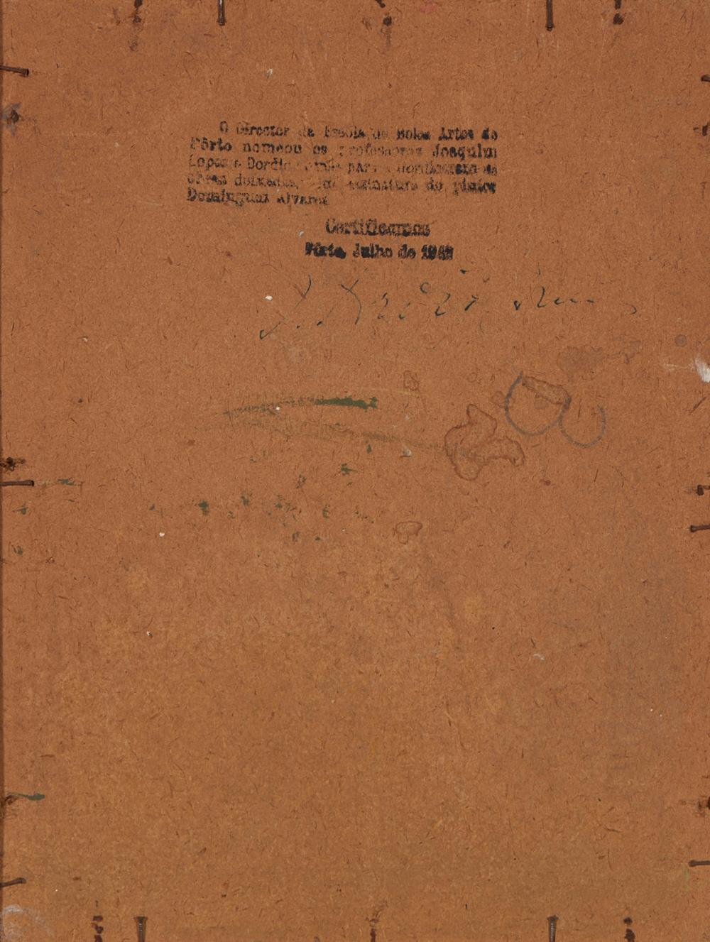 ALVAREZ, José, Óleo sobre cartão, 25,3 x 19 cm.