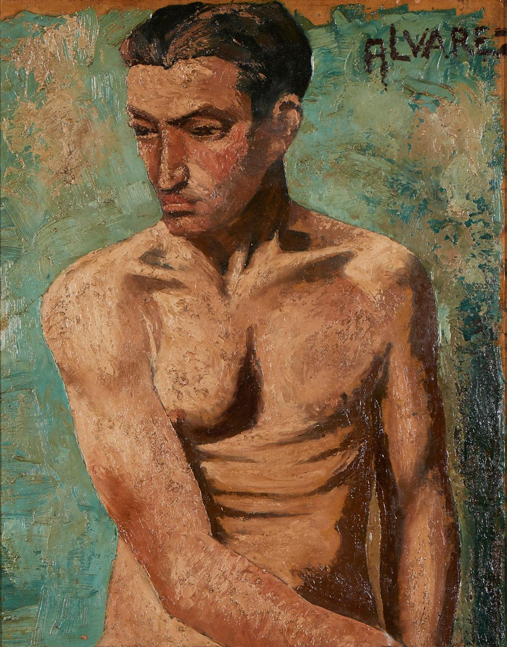 ALVAREZ, José, Óleo sobre tela 55 x 43 cm.