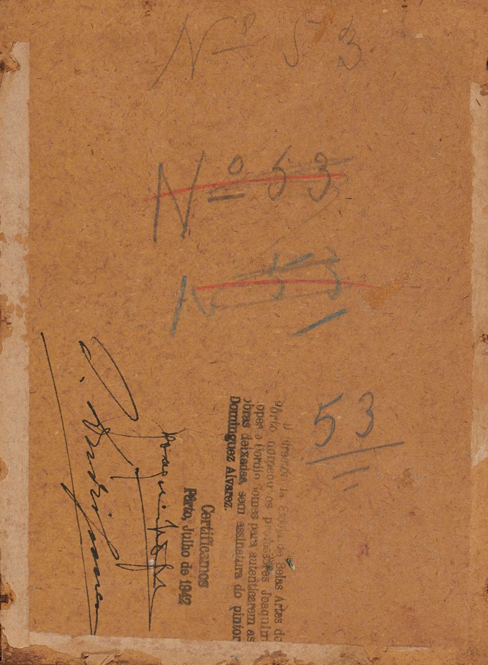 ALVAREZ, José, Óleo sobre cartão, 16,4 x 22 cm.
