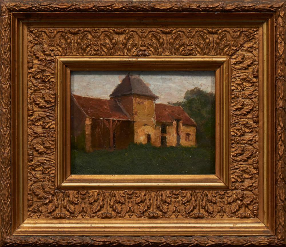 POUSÃO, Henrique, Óleo sobre cartão, 14 x 20,5 cm.
