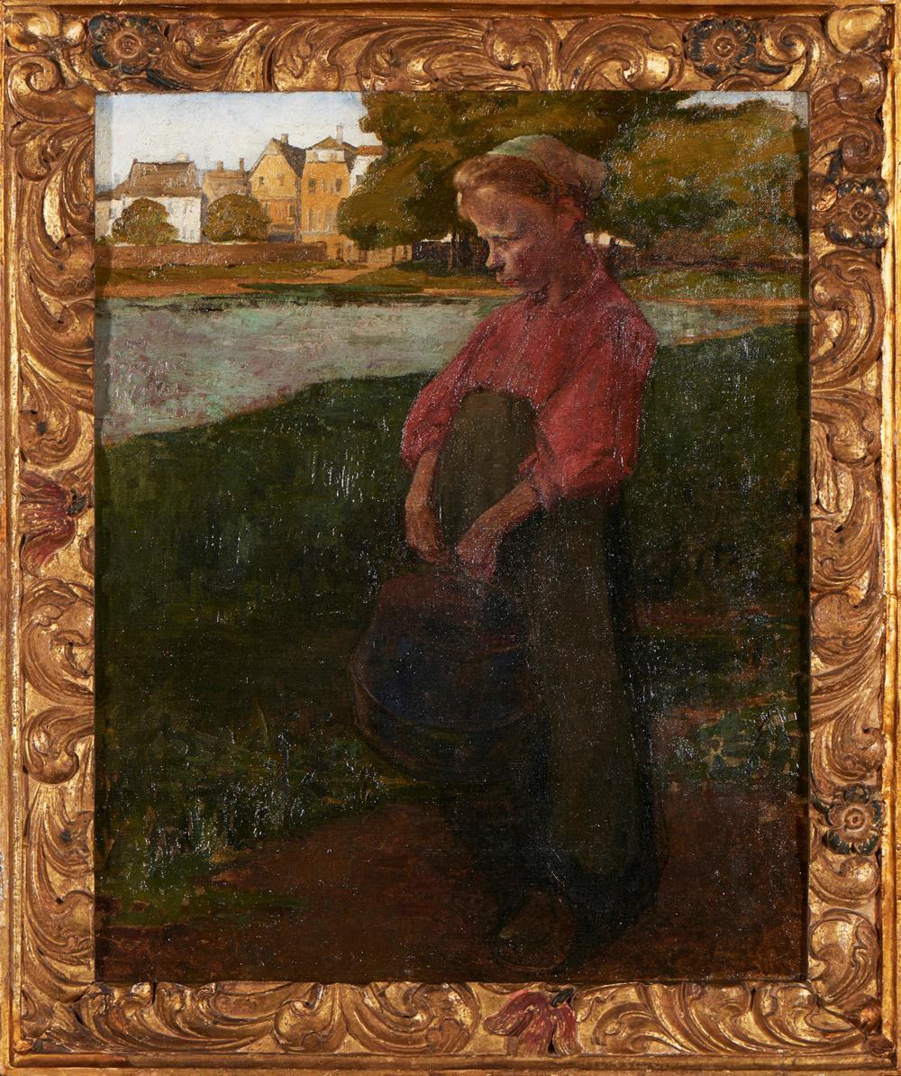 Menina, Óleo sobre tela, 80 x 64 cm.