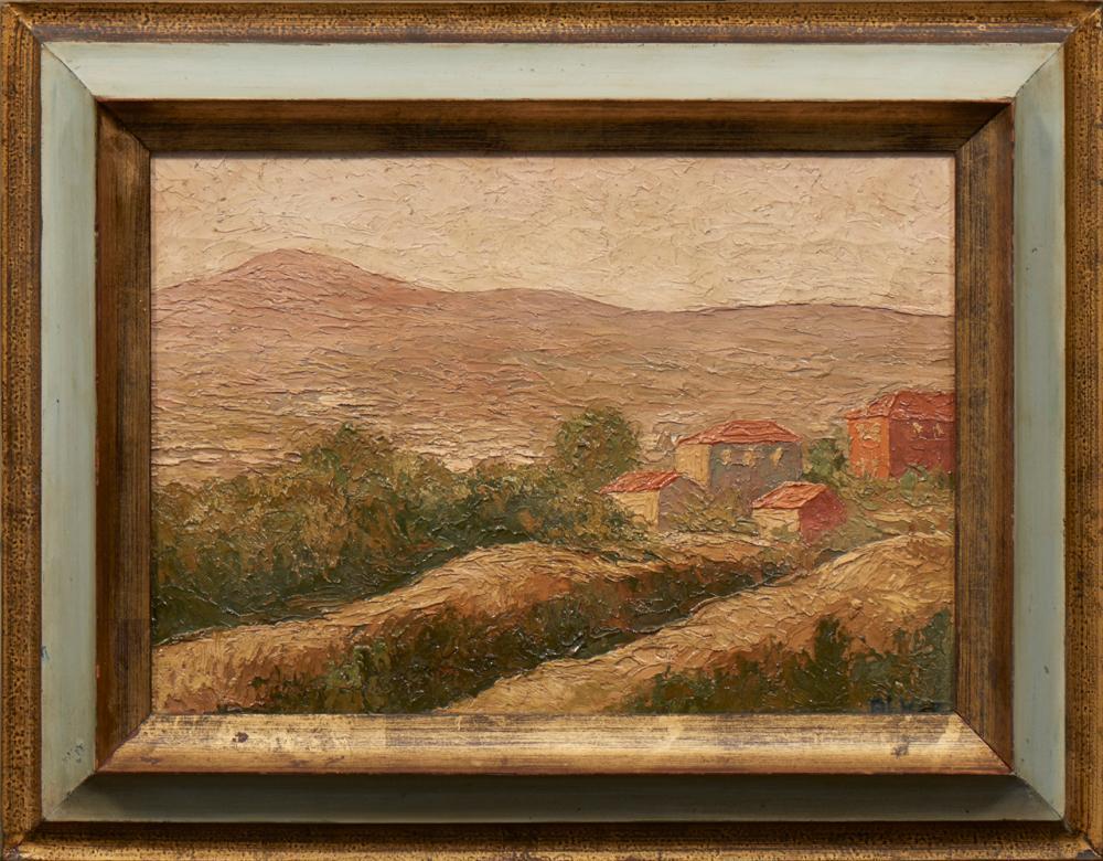ALVAREZ, José, Óleo s/papel, 25 x 36 cm.