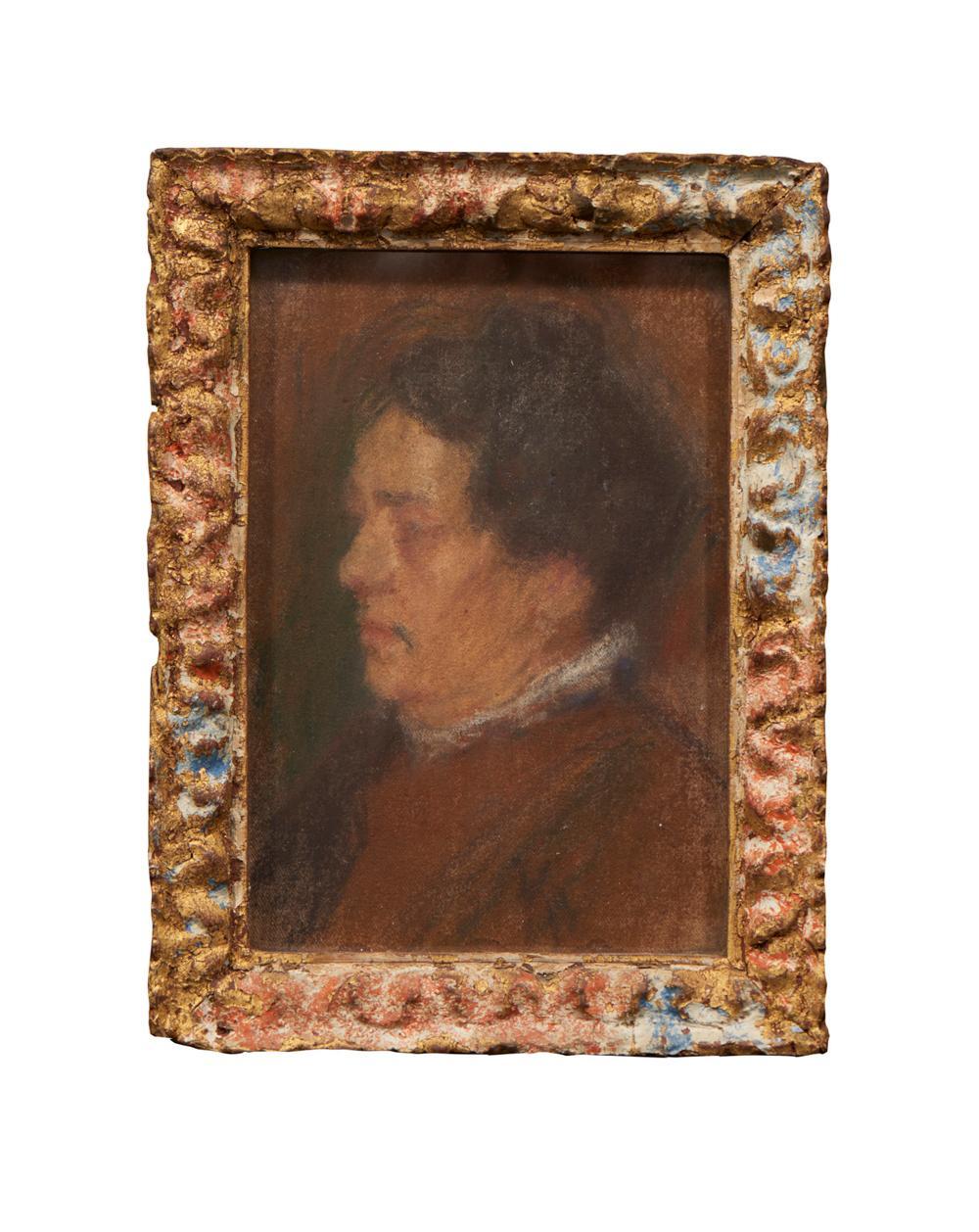 Perfil de figura, Pastel sobre tela, 19 x 13,5 cm.