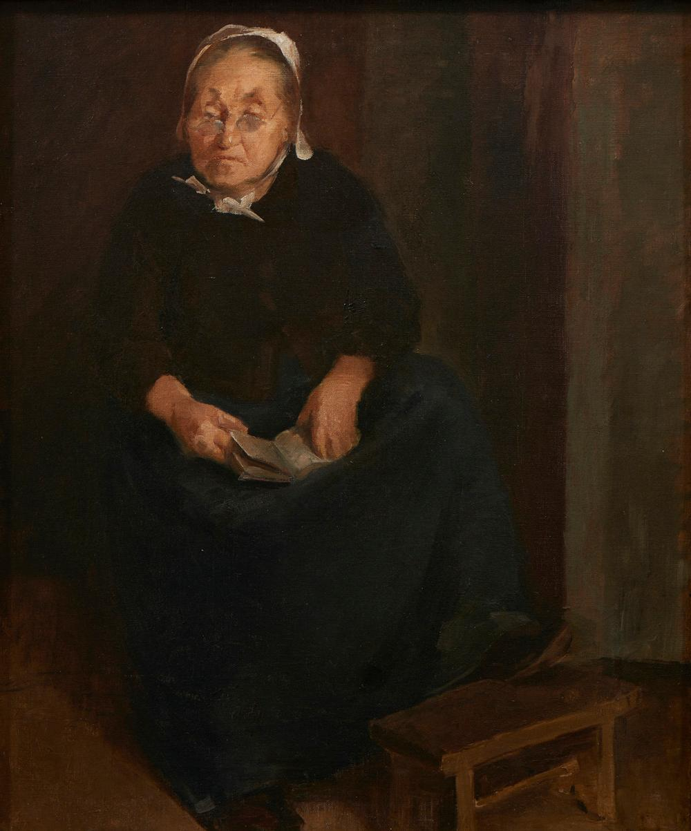 Autor não identificado, Óleo s/tela, 64 x 54 cm.