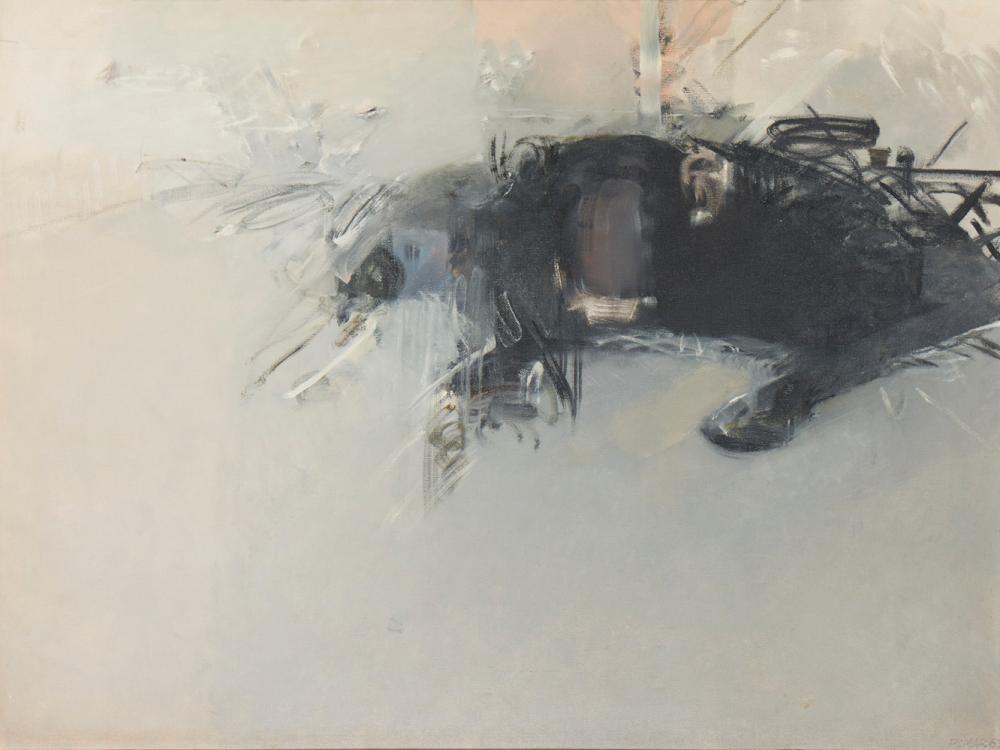 JÚLIO POMAR, Óleo sobre tela, 96 x 128 cm.