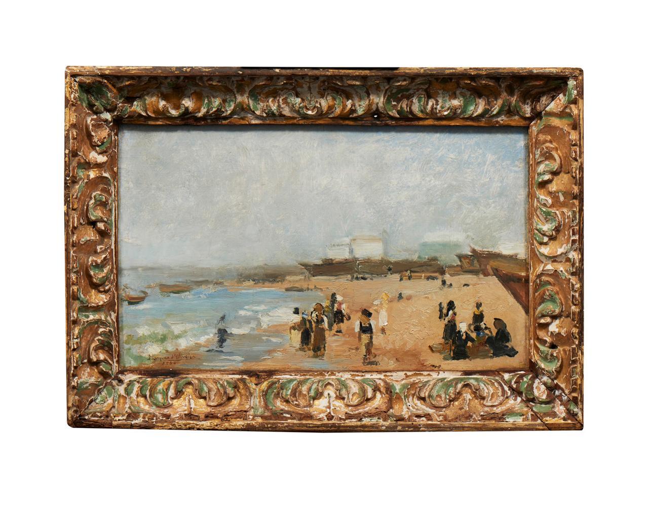 MARQUES DE OLIVEIRA, Óleo s/cartão, 23 x 38 cm