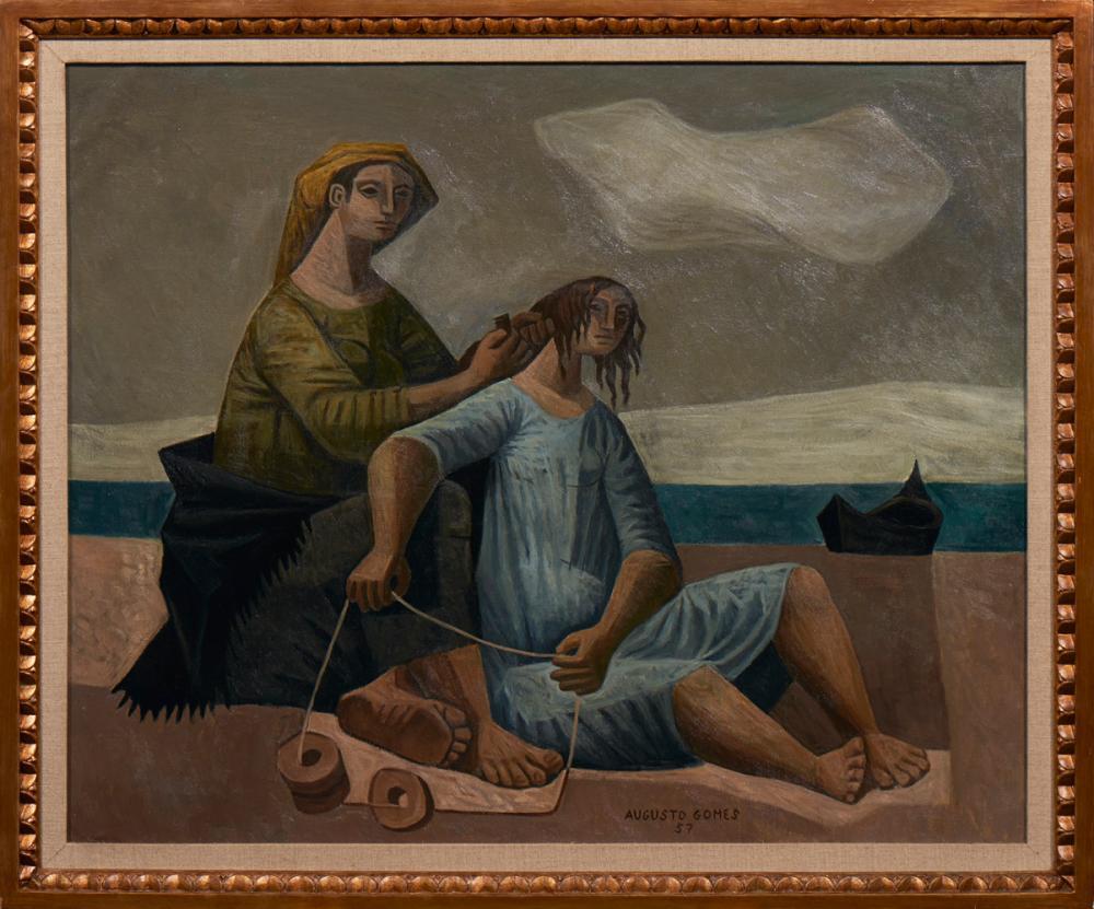 AUGUSTO GOMES, Óleo sobre tela, 90 x 109 cm.