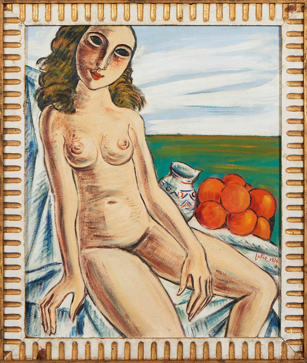 JÚLIO, Óleo sobre platex, 79 x 64 cm.