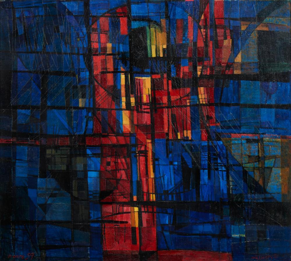 D'ASSUMPÇÃO, Óleo s/tela, 90 x 100 cm.