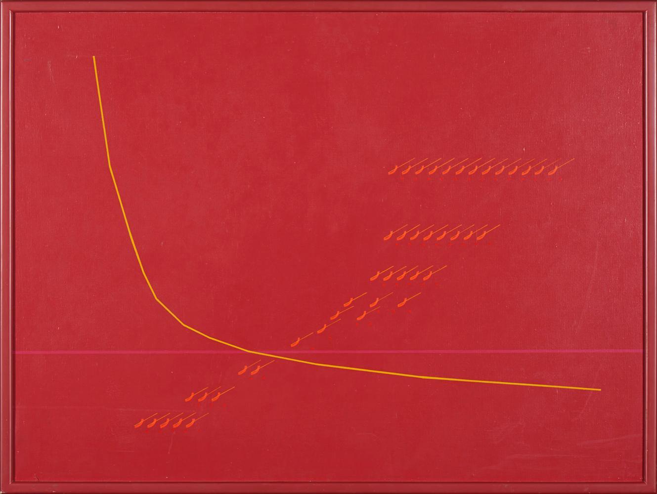 JORGE PINHEIRO, Óleo s/ tela, 90 x 120 cm.