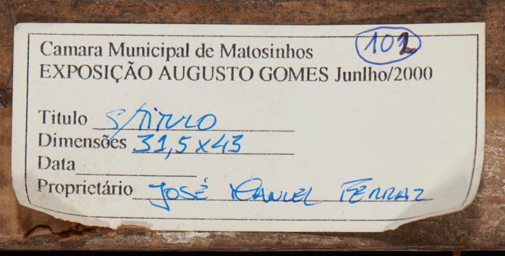 AUGUSTO GOMES, Óleo sobre platex, 31,5 x 43 cm.