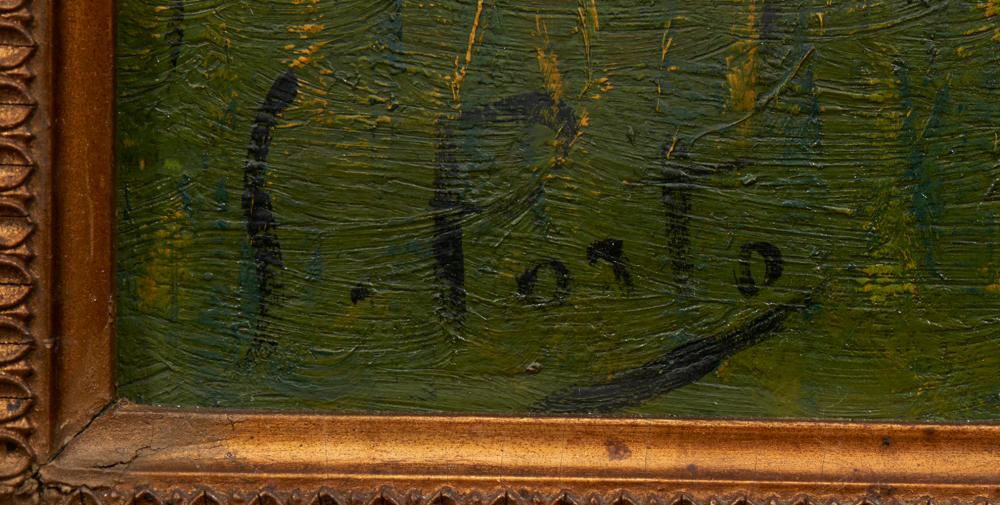 SILVA PORTO, Óleo sobre tela, 35,5 x 48 cm.*