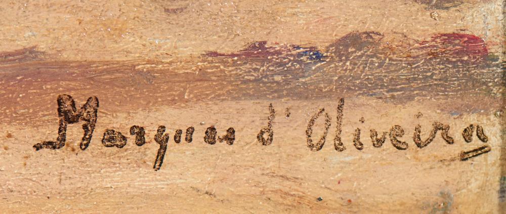 MARQUES DE OLIVEIRA, Óleo sobre madeira, 31x46cm.