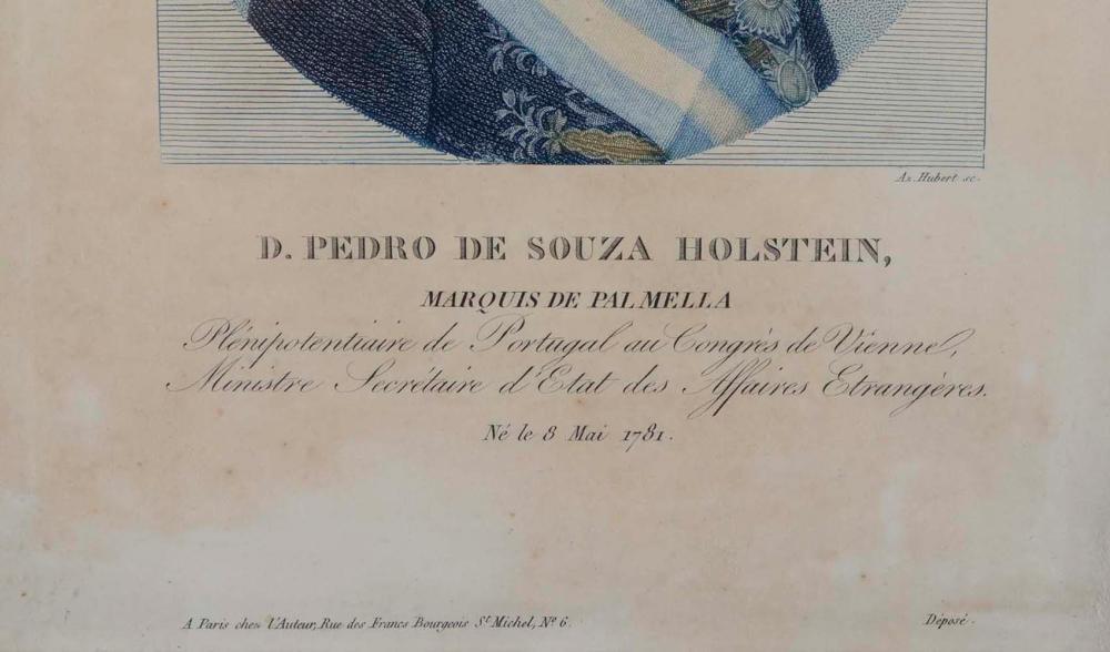 D. Pedro de Souza Holstein, litografia colorida