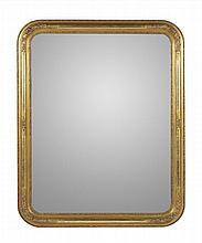 Espelho rectangular dourado, 129,5x104 cm