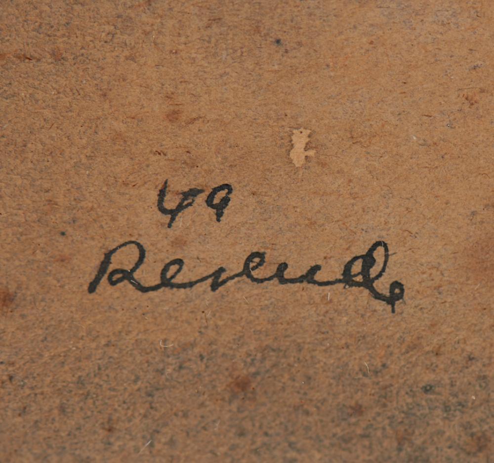 JÚLIO RESENDE, aguarela s/papel, 15x 21 cm.
