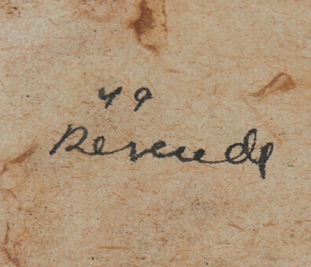 JÚLIO RESENDE, aguarela s/papel, 15x 21,7 cm.