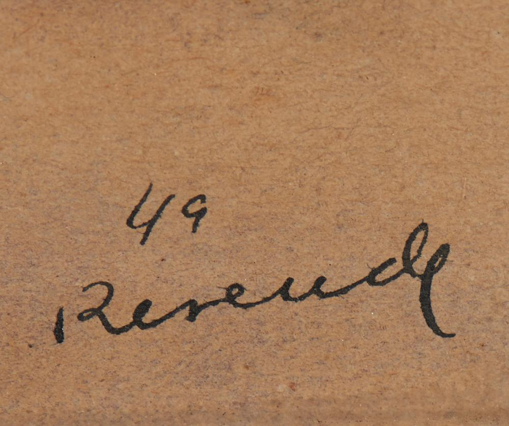 JÚLIO RESENDE, aguarela s/papel,19,5 x 12,2 cm.