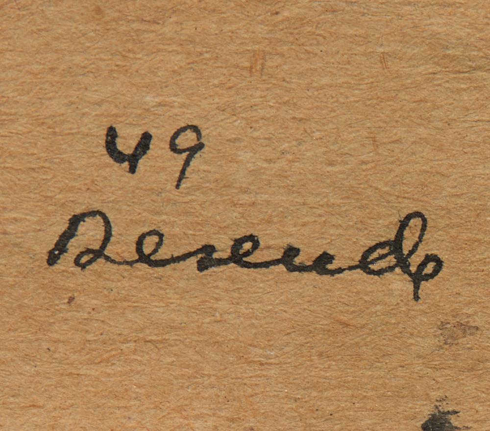 JÚLIO RESENDE, aguarela s/papel, 22 x 16 cm.
