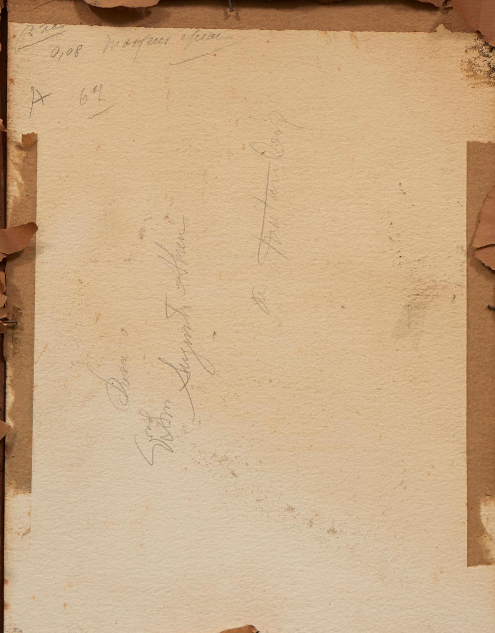 ANTÓNIO CRUZ, aguarela s/papel,31 x 23,5 cm.