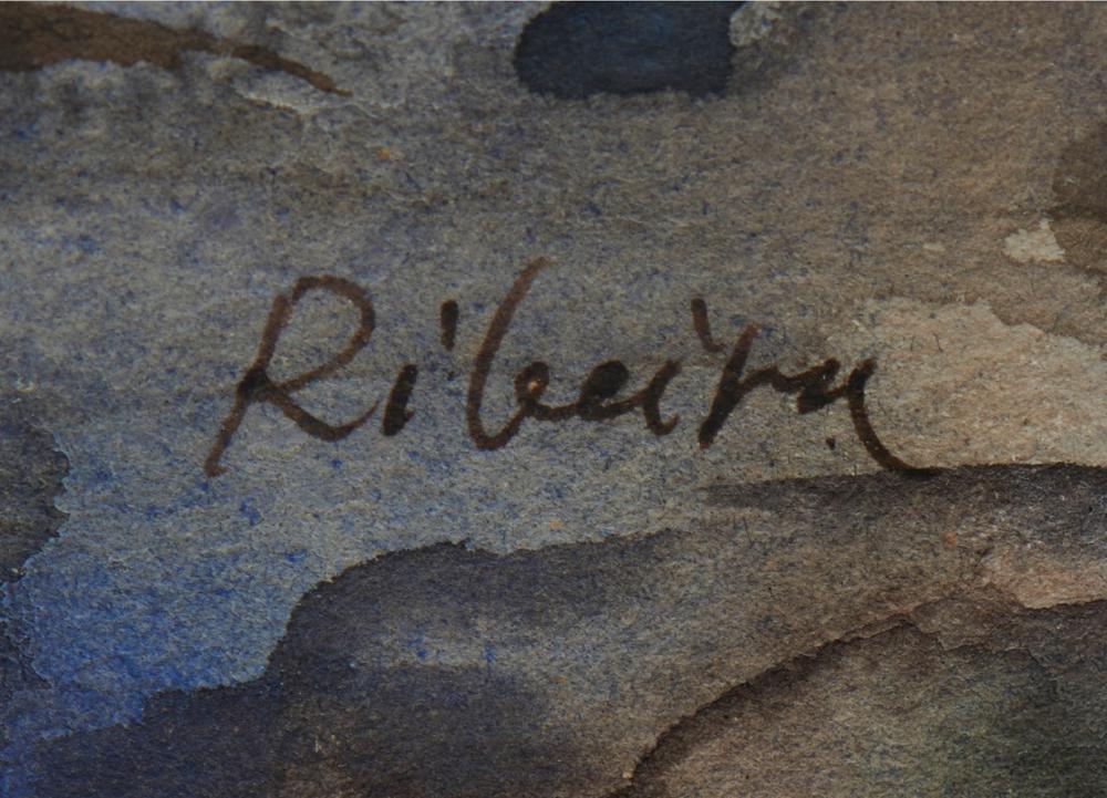 ANTÓNIO CRUZ, aguarela s/papel, 22 x 30,5 cm.