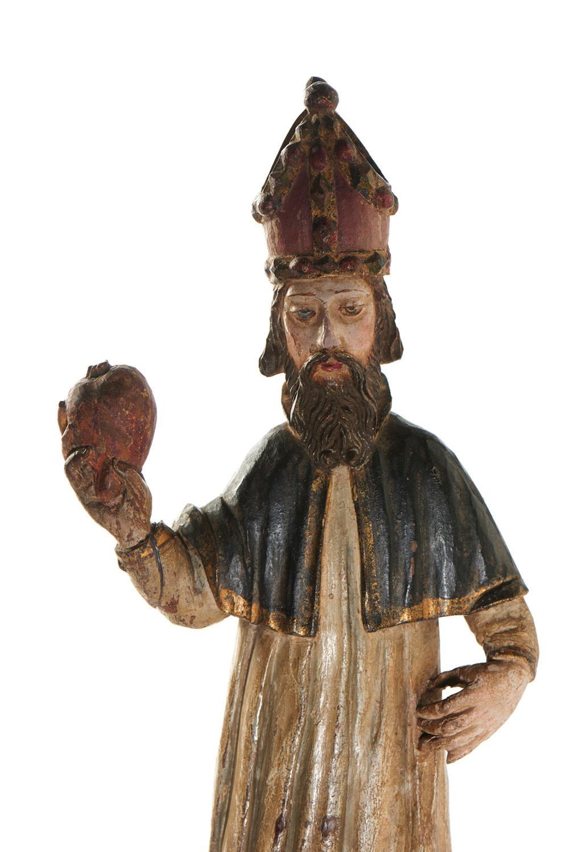 Santo Agostinho, escultura em madeira, séc. XVII