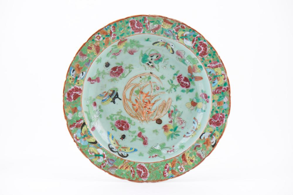 Cachepot c/ prato porcelana chinesa Mandarim (2)