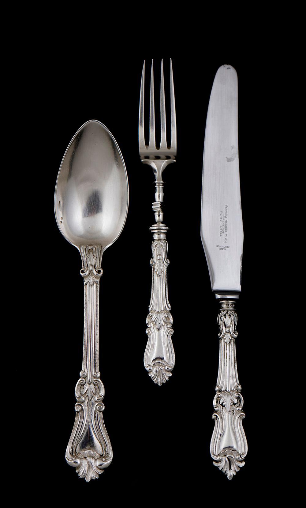 Faqueiro em prata portuguesa, 833%, P.10092g (149)