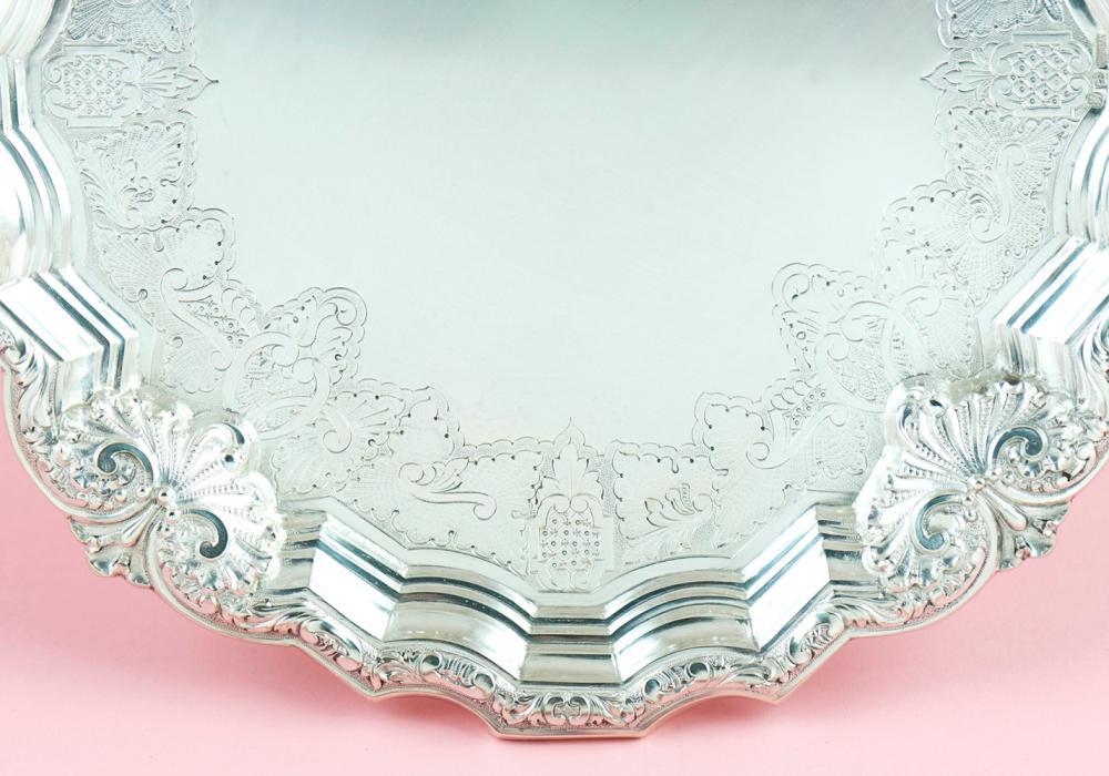 Salva em prata 833%, séc. XX, P. 466g
