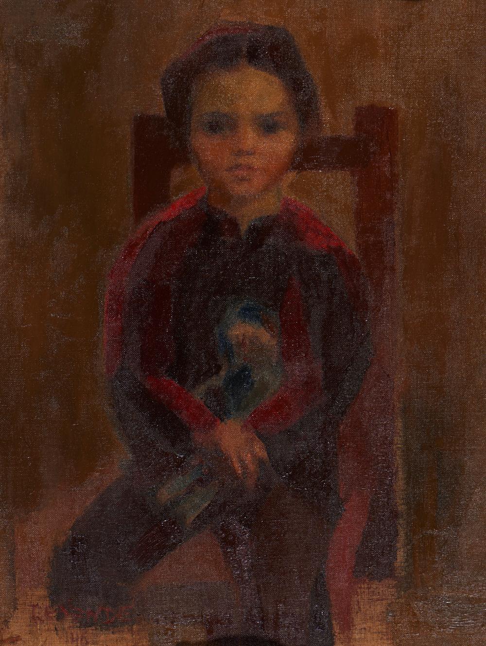 JÚLIO RESENDE, Óleo s/tela, 63 x 46 cm.