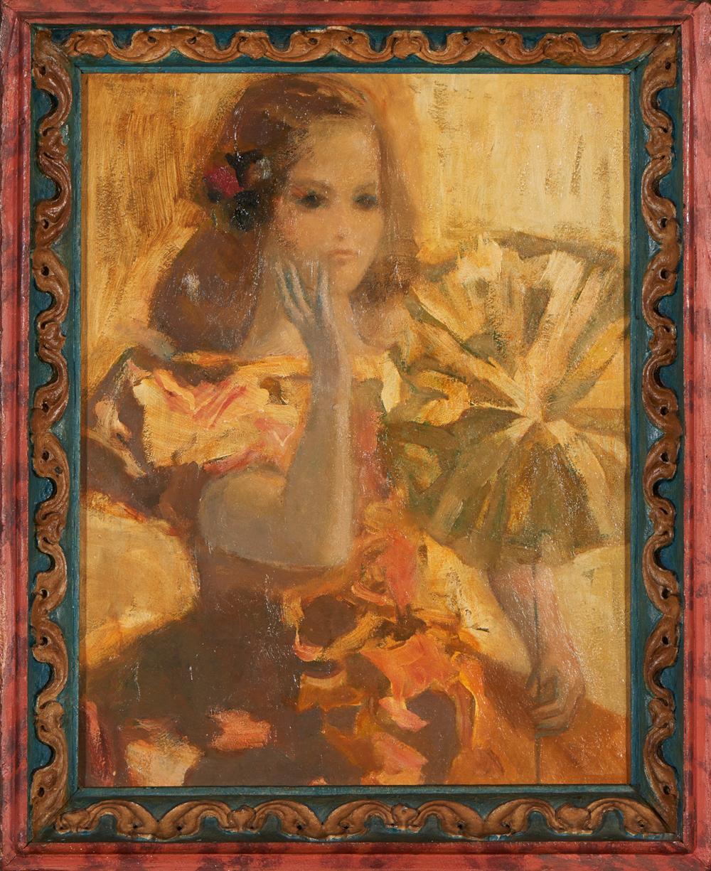 JÚLIO RESENDE, Óleo s/ contraplacado, 65x50 cm.