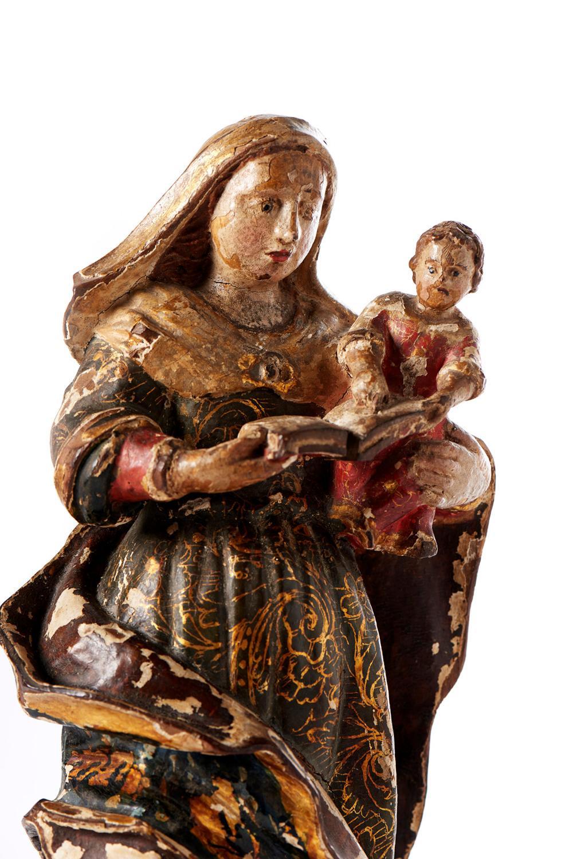 Sant'Ana e Nª Srª, Esc. do séc. XVIII, em madeira