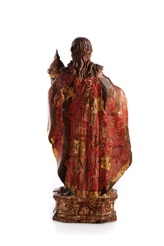 Santa Bárbara, Esc. do séc. XVIII, em madeira