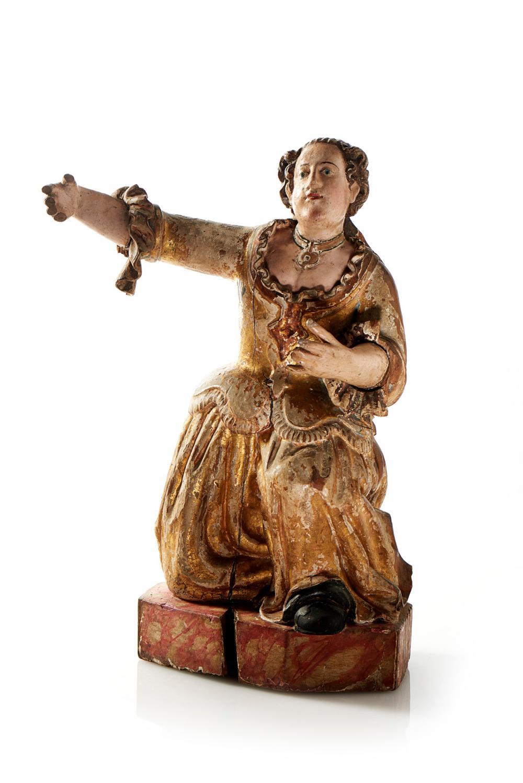 Figura feminina, escultura do séc. XVII em madeira