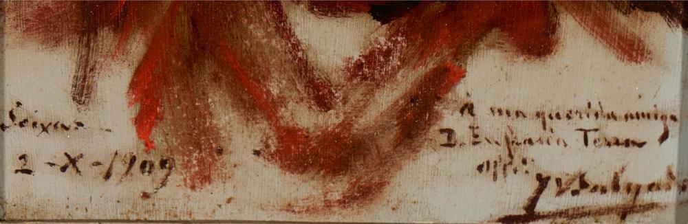 VELOSO SALGADO, óleo s/madeira, 24 x 19 cm.